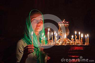 Girl with a candle.