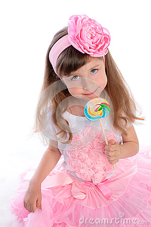 Girl with candy