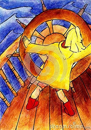 Free Girl Captain Stock Photography - 710152
