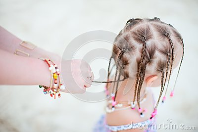 Girl with Caribbean braids