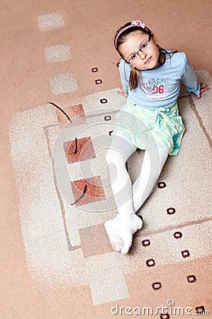 Girl on carpet