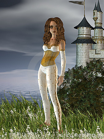 Girl and A Castle