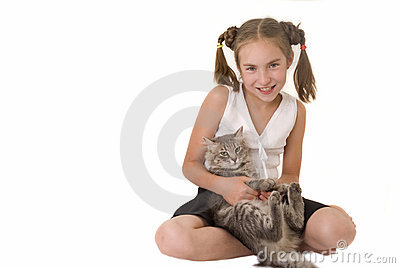 Girl with a cat III