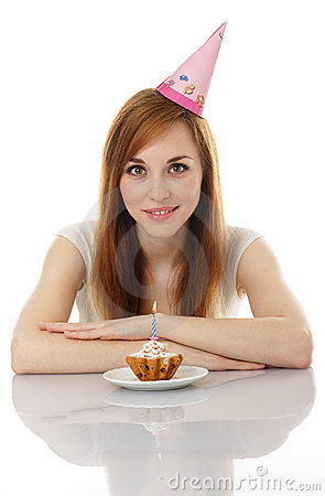 Girl celebrating her birthday