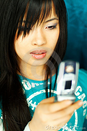 Girl with cell