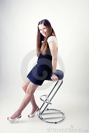 Girl on the chair