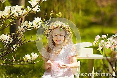 Girl in chaplet