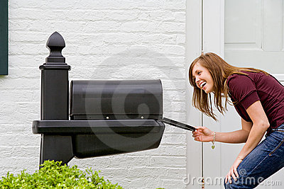 Girl Checking for Mail