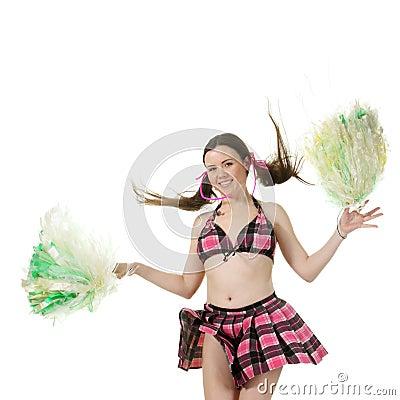 Girl cheerleader jump