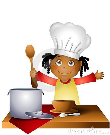 Girl Child in Chef Hat