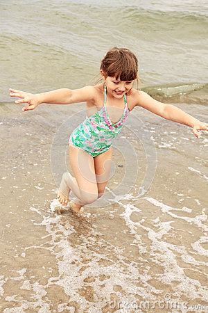 Girl, child, fun, water