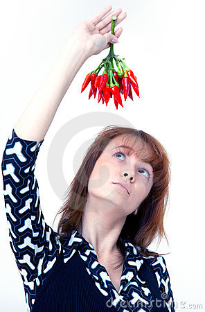 Girl with chilli