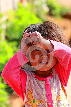 a girl in China Editorial Photo