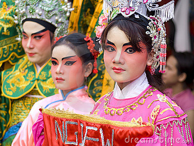 Girl on Chinese New Year In Bangkok Editorial Image