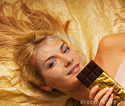 Girl with a chocolate