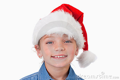 Girl with a Christmas hat