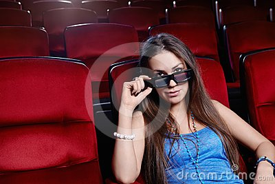 The girl at the cinema