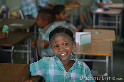 Girl in classroom, paramaribo, Editorial Photography