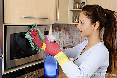 Girl Cleaning The House Royalty Free Stock Photo Image