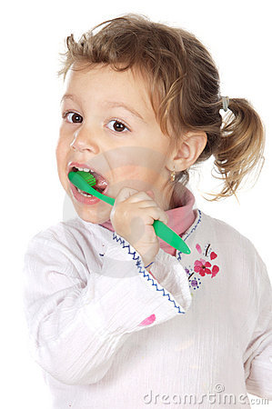 Free Girl Cleaning The Teeth Stock Photo - 2499730