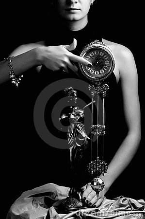 Girl with a clock