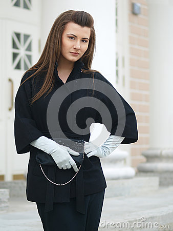 Girl with clutch