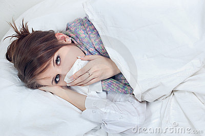 Girl with a cold