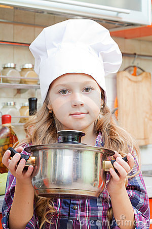 Girl in a cook cap