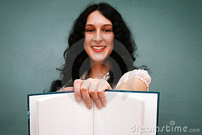 Girl with copy-book