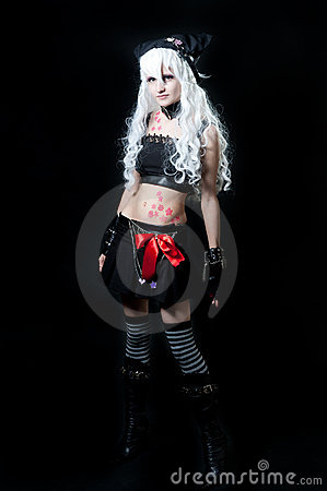 Girl in cosplay suit