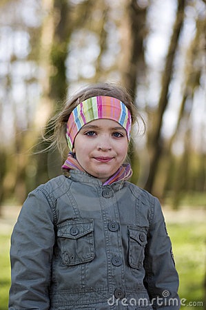 Girl in countryside