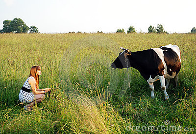 The Girl And The Cow