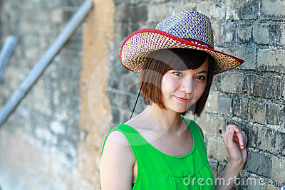 Girl in a cowboy hat
