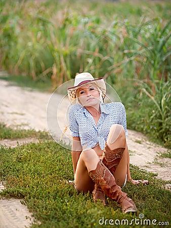 Girl cowpuncher