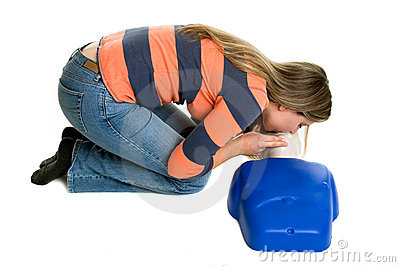 Girl CPR Training