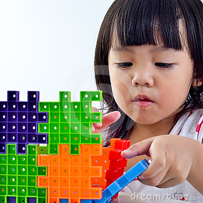 Kid creative and playing