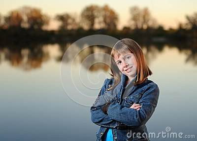Girl with crossed arms