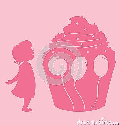 Girl And Cupcake