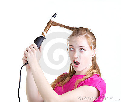 Girl with curling