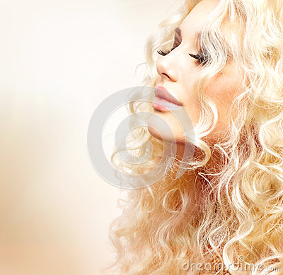 Girl with Curly Blond Hair