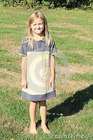 Girl in cute dress