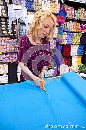 Girl cutting fabric 2