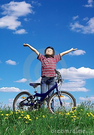 Free Girl Cycling Stock Photos - 2383033