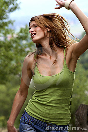 Free Girl Dance With Joy Stock Photos - 22903543