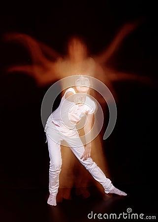 The girl dancer