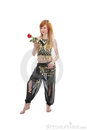 Girl dances belly dance