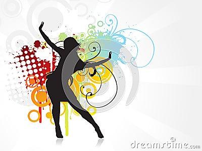 Girl dancing background
