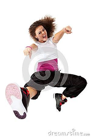 Girl dancing hip-hop