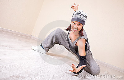Girl dancing hip-hop studio series