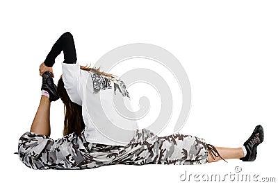 Girl dancing of joy